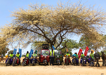 Motorcycle Road Show in Kenya
